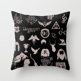 potter's head Throw Pillow