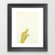 Press the Button Framed Art Print
