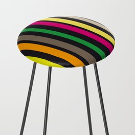 bold stripes and color Counter Stool
