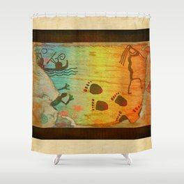 Cave Dwelling Native American Shower Curtain