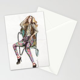 Floral Fashion Stationery Cards