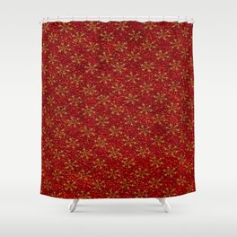Glittered Christmas Shower Curtain