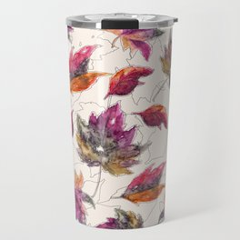 Maple Pattern Travel Mug