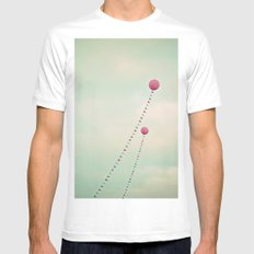Whimsical Balloons MEDIUM Mens Fitted Tee White