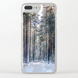 Sun forest Clear iPhone Case