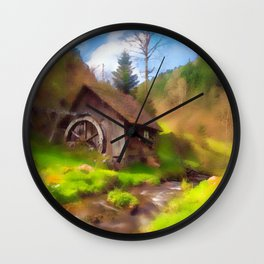 Water Mill Wall Clock