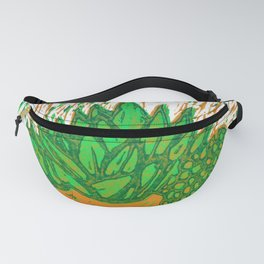 Lino printed succulent #8 Fanny Pack