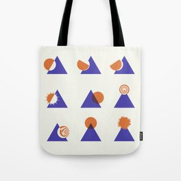 Circle Meets Triangle - Composition 13 Tote Bag