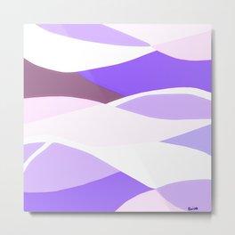 Blue and Lavender Waves Metal Print