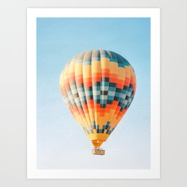 Colorful Hot Air Balloon in Cappadocia | Turkey Travel Adventure Photography Art Print