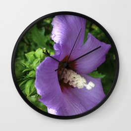 From Garden To Art The Flowering Hibiscus Wall Clock