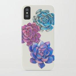 Vibrant Succulents  iPhone Case