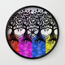 THEY COME IN COLORS Wall Clock