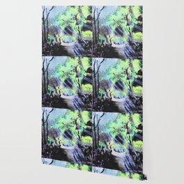 Sun Streaked Garden Wallpaper