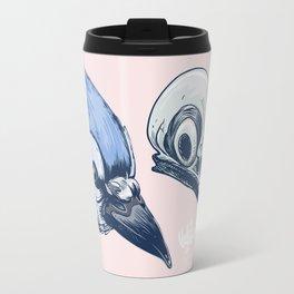 Blue Jay Skull Travel Mug