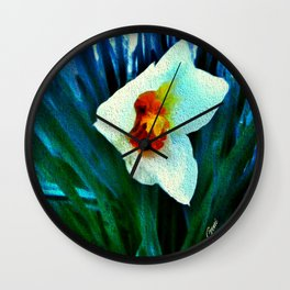 First Jonquil of Spring Wall Clock