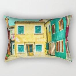 Little Gold House, Burano, Italy Rectangular Pillow
