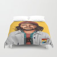 che Duvet Covers featuring Hipstory - che guevara by Amit Shimoni