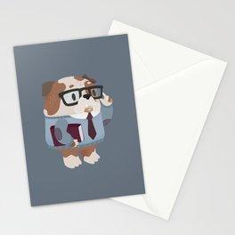 Smart Bulldog Character Stationery Cards