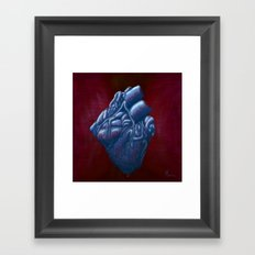 Her Heart of Ice - painting Framed Art Print