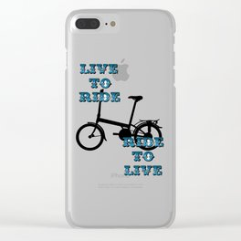 Live to ride Clear iPhone Case