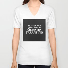 Written and directed by Quentin Tarantino - black Unisex V-Neck