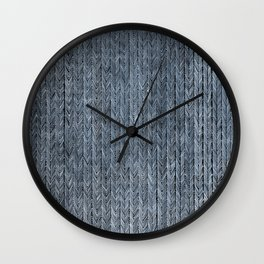 Ink Weaves: Sapphire (I) Wall Clock
