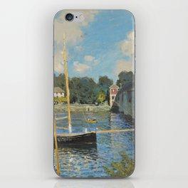 Claude Monet The Bridge at Argenteuil 1874 Painting iPhone Skin