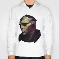 mass effect Hoodies featuring Mass Effect: Thane Krios by Ruthie Hammerschlag