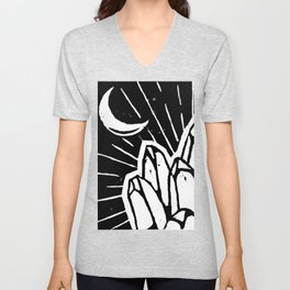 Crystal and Moon Unisex V-Neck