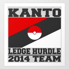 Kanto Ledge Hurdling Team Art Print