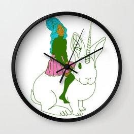 SOME BUNNY Wall Clock