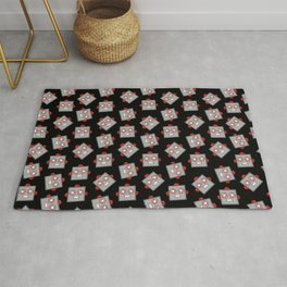Retro Robot Heads Rug