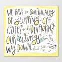 jumping off cliffs - kurt vonnegut quote by shainaanderson