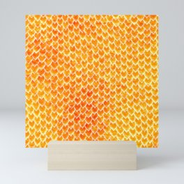 Mermaid Scales - Orange Gold Mini Art Print