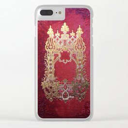 Ink Stained Crimson Book Clear iPhone Case