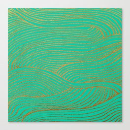Wind Gold Turquoise Canvas Print