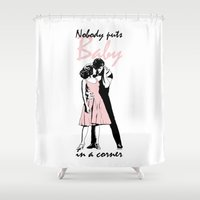 dirty dancing Shower Curtains featuring Dirty Dancing by Pendientera