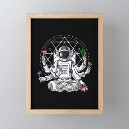 Psychedelic Astronaut Psychonaut  Framed Mini Art Print