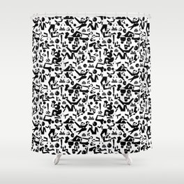 Healthy Hedonism Shower Curtain