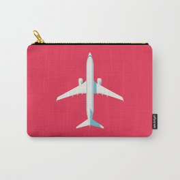 737 Passenger Jet Airliner Aircraft - Crimson Carry-All Pouch