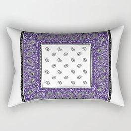 Purple Twist Bandana Rectangular Pillow