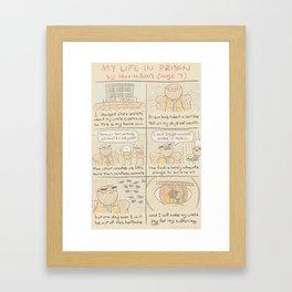 Antics #342 - holding a grudge Framed Art Print