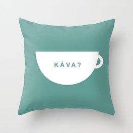 Coffee? (Czech Republic) Throw Pillow