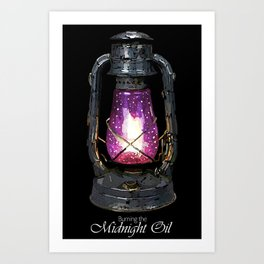 Buring the Midnight Oil Art Print