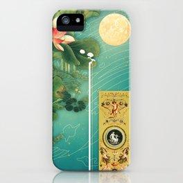 Chinese Lotus Full Moon Garden :: Fine Art Collage iPhone Case