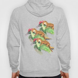 Weasel Riding Woodpecker Gang Hoody