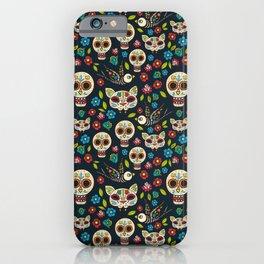 Day Of The Dead Pattern | Dia De Los Muertos Skull iPhone Case