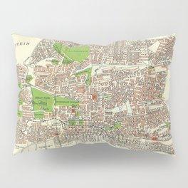 Vintage Johannesburg South Africa Map (1913) Pillow Sham