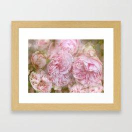 Vintage English Roses Framed Art Print